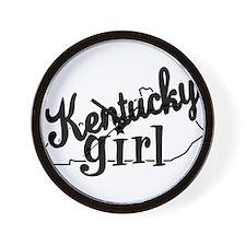Kentucky Girl Wall Clock
