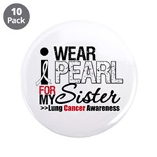 """Lung Cancer (Sister) 3.5"""" Button (10 pack)"""