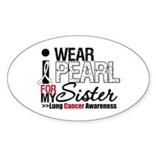 Lung Cancer (Sister) Oval Decal