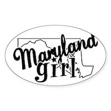 Maryland Girl Oval Decal