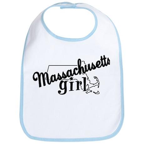 Massachusetts Girl Bib