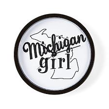 Michigan Girl Wall Clock