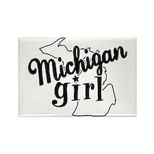 Michigan Girl Rectangle Magnet (10 pack)