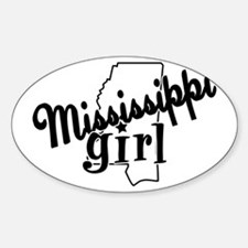 Mississippi Girl Oval Decal
