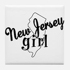New Jersey Girl Tile Coaster