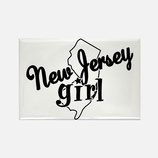 New Jersey Girl Rectangle Magnet