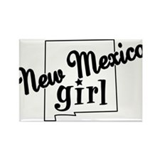 New Mexico Girl Rectangle Magnet