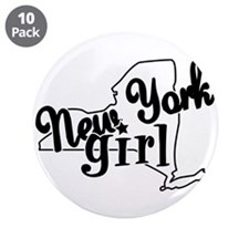 "New York Girl 3.5"" Button (10 pack)"