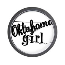 Oklahoma Girl Wall Clock