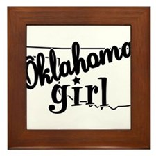 Oklahoma Girl Framed Tile