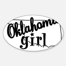 Oklahoma Girl Oval Decal