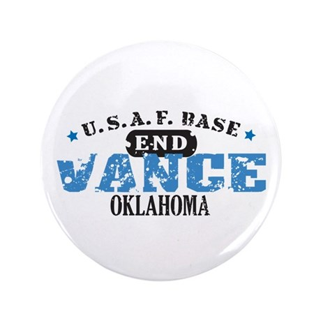"Vance Air Force Base 3.5"" Button (100 pack)"