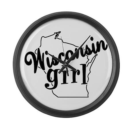 Wisconsin Girl Large Wall Clock