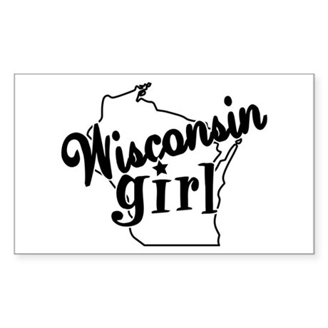 Wisconsin Girl Rectangle Sticker
