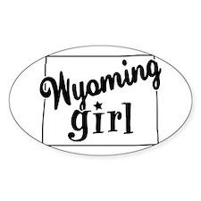 Wyoming Girl Oval Sticker (10 pk)