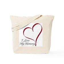 I Love My Mommy Heart Tote Bag