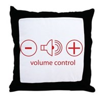 Volume Control Throw Pillow