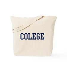 Colege (Navy) Tote Bag