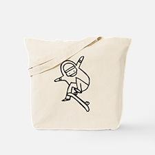 Skater I (Black) Tote Bag