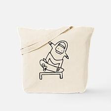 Skater K (Black) Tote Bag