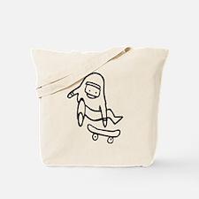 Skater L (Black) Tote Bag