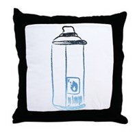 Graffiti Spray Can Throw Pillow