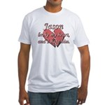 Jason broke my heart and I hate him Fitted T-Shirt