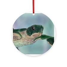 Baby Sea Turtle Ornament (Round)