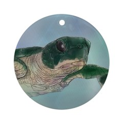 Baby Sea Turtle Ornament (Round)