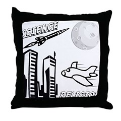Science and Religion Throw Pillow