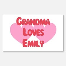 Grandma Loves Emily Rectangle Decal
