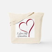 I Love My Grandma Heart Tote Bag
