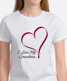 I Love My Grandma Heart Women's T-Shirt