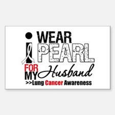 Lung Cancer (Husband) Rectangle Decal