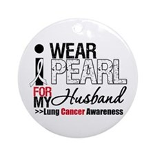 Lung Cancer (Husband) Ornament (Round)