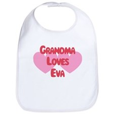 Grandma Loves Eva Bib