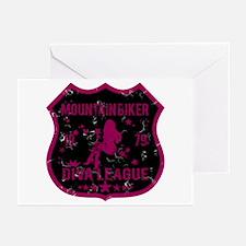 Mountain Biker Diva League Greeting Cards (Pk of 1