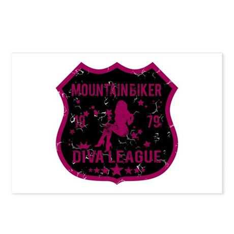 Mountain Biker Diva League Postcards (Package of 8