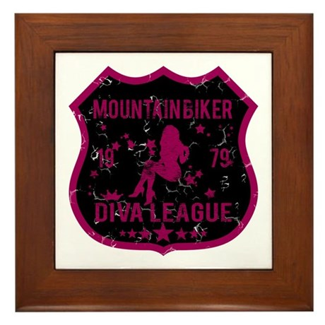 Mountain Biker Diva League Framed Tile