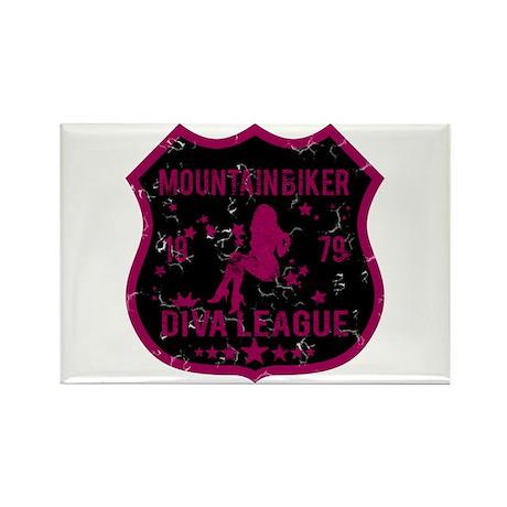 Mountain Biker Diva League Rectangle Magnet