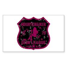 Mountain Biker Diva League Rectangle Decal