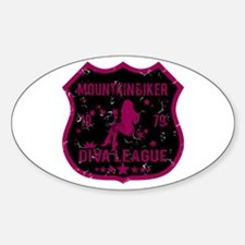 Mountain Biker Diva League Oval Decal