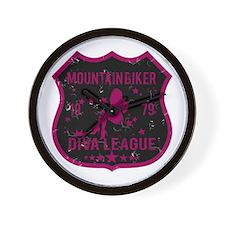 Mountain Biker Diva League Wall Clock