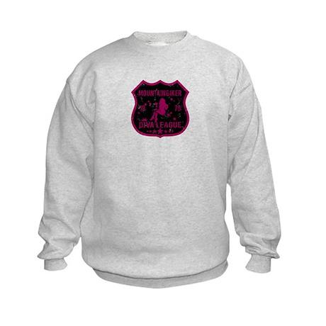 Mountain Biker Diva League Kids Sweatshirt