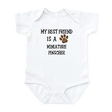 My best friend is a MINIATURE PINSCHER Infant Body