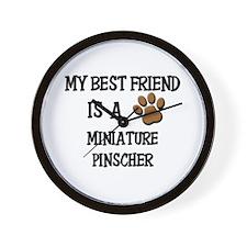 My best friend is a MINIATURE PINSCHER Wall Clock