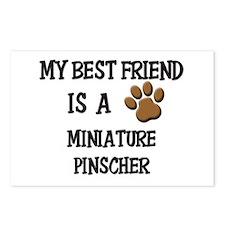 My best friend is a MINIATURE PINSCHER Postcards (