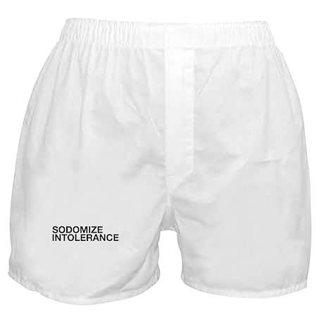 Sodomize Intolerance (Black) Boxer Shorts