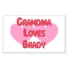 Grandma Loves Brady Rectangle Decal
