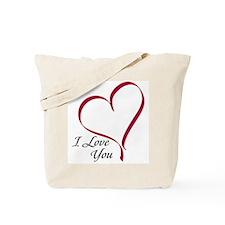 I Love You Heart Tote Bag